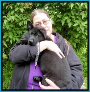 Heidi And Puppy 10 Zafir Sold Framed Home Photo