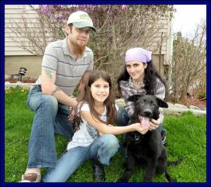 Samantha, Husband And Daughter Fenris Leaving April 24, 2011 Framed