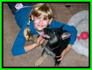 Hiedi And Little Girl Framed Green