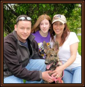 Puppy 10, Husband, Daughter And Jill Sold Photo May 8, 2011 Framed