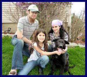Samantha, Husband And Daughter Fenris Leaving April 24, 2011 Framed