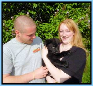 Zyka Puppy 8 Phil Amanda Framed Sold Home Photo